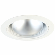 Elco ELM530W Modern White Medium Base 5  Recessed Lighting Metal Stepped Baffle Trim
