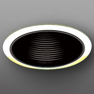 Elco ELP530BG Contemporary Black with Gold Medium Base 5  Recessed Lighting Phelonic Baffle Trim