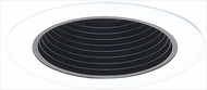 Elco ELP530KB Modern Black with White Medium Base 5  Down Lighting Phelonic Baffle Trim (with Bracket)