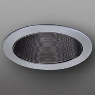 Elco ELP530KBN Modern Black with Nickel Medium Base 5  Recessed Light Phelonic Baffle Trim (with Bracket)