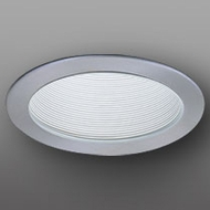 Elco ELP530KWN Contemporary White with Nickel Medium Base 5  Down Lighting Phelonic Baffle Trim (with Bracket)