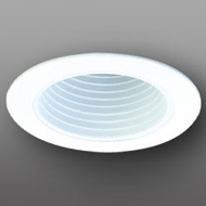 Elco ELP530W Contemporary White Medium Base 5  Down Lighting Phelonic Baffle Trim