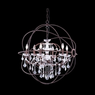 Elegant 1130D32RI-RC Urban Red Rusted Painted Finish 34.5 Tall Chandelier Lamp