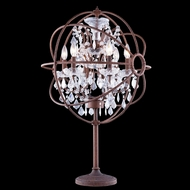 Elegant 1130TL21RI-RC Urban Red Rusted Painted Finish 34 Tall Table Light