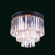 Elegant 1201F20MB-RC Urban Mocha Brown Finish 16  Tall Ceiling Lighting