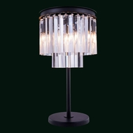 Elegant 1201TL14MB-RC Urban Mocha Brown Finish 26  Tall Table Lighting