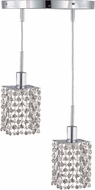 Elegant 1282D-R-S-CL-RC Mini Royal Cut Chrome Multi Ceiling Pendant Light