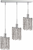 Elegant 1283D-O-E-CL-RC Mini Royal Cut Chrome Multi Drop Ceiling Light Fixture
