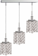 Elegant 1283D-O-P-CL-RC Mini Royal Cut Chrome Multi Drop Lighting Fixture