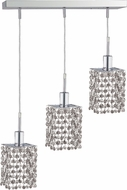 Elegant 1283D-O-S-CL-RC Mini Royal Cut Chrome Multi Pendant Light