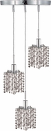 Elegant 1283D-R-P-CL-RC Mini Royal Cut Chrome Multi Pendant Lamp