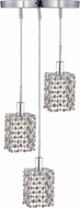 Elegant 1283D-R-S-CL-RC Mini Royal Cut Chrome Multi Hanging Light