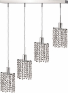Elegant 1284D-O-E-CL-RC Mini Royal Cut Chrome Multi Pendant Light Fixture