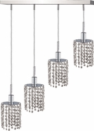 Elegant 1284D-O-R-CL-RC Mini Royal Cut Chrome Multi Hanging Pendant Lighting