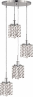 Elegant 1284D-R-P-CL-RC Mini Royal Cut Chrome Multi Hanging Light Fixture