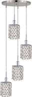 Elegant 1284D-R-S-CL-RC Mini Royal Cut Chrome Multi Drop Ceiling Lighting