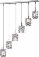 Elegant 1286D-O-S-CL-RC Mini Royal Cut Chrome Multi Pendant Lamp