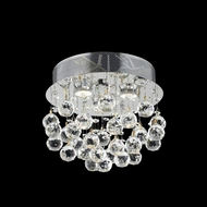 Elegant 2006F13C-RC Galaxy Chrome Finish 12  Tall Ceiling Light Fixture