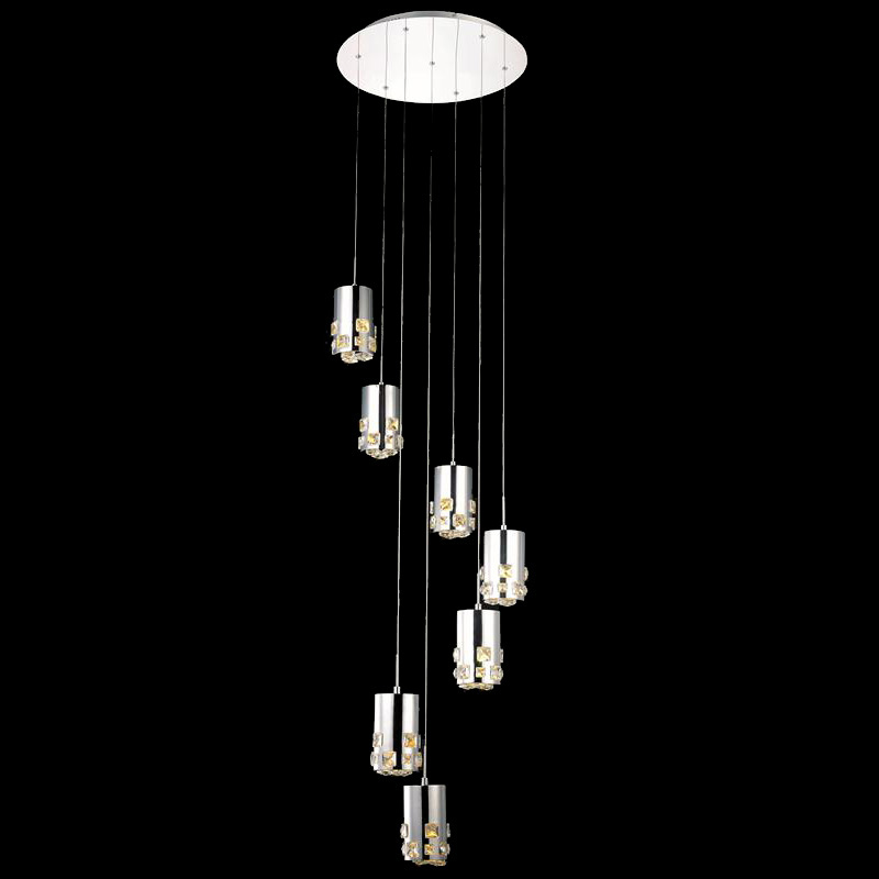 Drop ceiling lights led : Elegant d r rc broadway chrome finish quot tall led