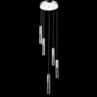 Elegant 2056D5R-RC Diva Chrome Finish 125  Tall LED Multi Pendant Light