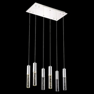 Elegant 2056D6O-RC Diva Chrome Finish 13  Wide LED Multi Lighting Pendant