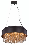 Elegant 2103DF16MDB-GT-RC Regency Matte Dark Brown Halogen 16  Drop Lighting Fixture / Ceiling Light Fixture