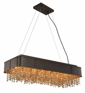 Elegant 2103DF32MDB-GT-RC Regency Matte Dark Brown Halogen Kitchen Island Light Fixture