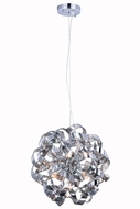 Elegant 2104D18SS Ritz Modern Chrome Halogen 18  Drop Ceiling Lighting