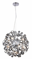 Elegant 2104D24C Ritz Contemporary Chrome Halogen 24  Ceiling Light Pendant