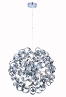 Elegant 2104D24SS Ritz Modern Chrome Halogen 24  Ceiling Pendant Light