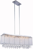 Elegant 2107DF35C-RC Aspen Chrome Halogen Island Light Fixture