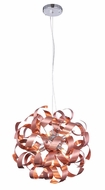 Elegant 2108D17BC Fusion Brushed Copper Halogen 17  Pendant Lamp