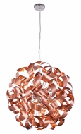 Elegant 2108D25BC Fusion Brushed Copper Halogen 25  Hanging Lamp