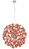 Elegant 2108D31BC Fusion Brushed Copper Halogen 31.5  Hanging Light