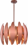 Elegant 2111D20BC Lily Brushed Copper Halogen 20  Pendant Hanging Light