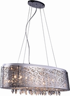 Elegant 2113DF32C-RC Finley Chrome Halogen Island Light Fixture / Ceiling Lighting