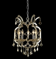 Elegant 2800D15GT-GT-RC Maria Theresa Golden Teak Finish 23  Tall Mini Hanging Chandelier