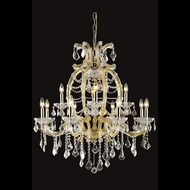 Elegant 2800D33G-RC Maria Theresa Gold Finish 33.5 Wide Hanging Chandelier
