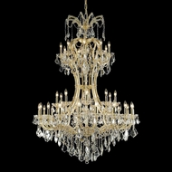 Elegant 2800D46G-RC Maria Theresa Gold Finish 46 Wide Chandelier Lamp