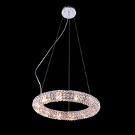 Elegant 2912D18C-RC Halo 3  Tall Hanging Light