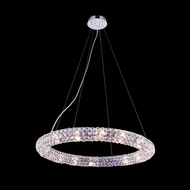 Elegant 2912D24C-RC Halo 24  Wide Pendant Light Fixture