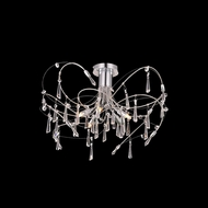 Elegant 3203F22C-RC Galactic Chrome Finish 14  Tall Ceiling Light Fixture