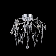 Elegant 5008F20C-EC Amour Chrome Finish 20  Wide Ceiling Light Fixture