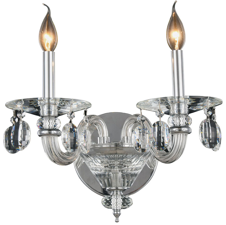 Wall Sconces Elegant : Elegant 7870W15C-RC Augusta Chrome Wall Lighting Sconce - ELE-7870W15C-RC