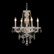Elegant 7894D20C-RC Giselle Chrome Finish 18  Tall Mini Chandelier Light