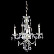 Elegant 7894D20G-RC Giselle Gold Finish 20  Wide Mini Ceiling Chandelier