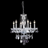 Elegant 7896D21C-RC Giselle Chrome Finish 23  Tall Mini Hanging Chandelier