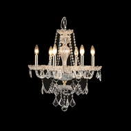 Elegant 7896D21G-RC Giselle Gold Finish 21  Wide Mini Chandelier Light
