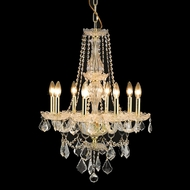 Elegant 7898D21G-RC Giselle Gold Finish 21  Wide Mini Lighting Chandelier