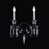 Elegant 8902W20B-JT-EC Majestic Black Finish 18  Tall Wall Light Fixture